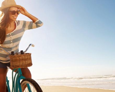 Dylan woman on bike